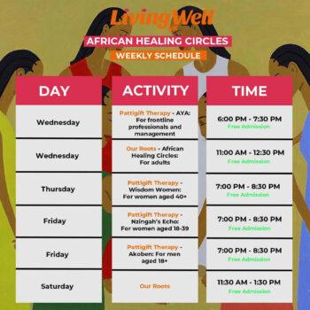 African Healing Circles Timetable (1)